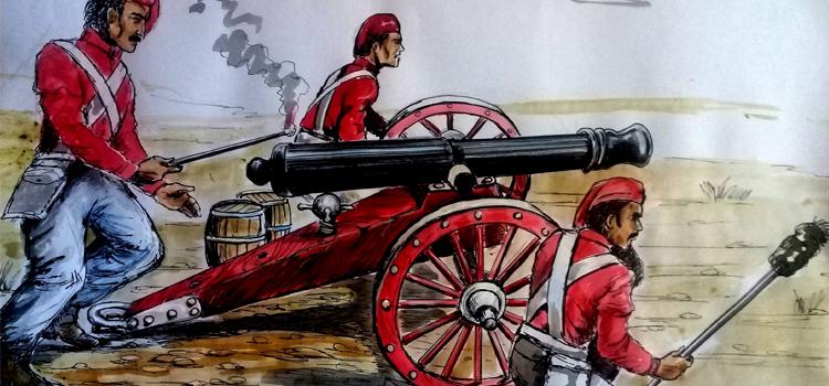 San Pedro: Revelan que los cañones de la Batalla de Obligado eran rojos, negros y blancos - Colón Doce